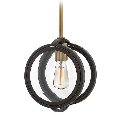Hinkley Lighting Hinkley Lighting Fulham Buckeye Bronze Pendant Light with Globe Shade 3927KZ
