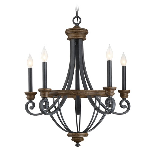Savoy House Savoy House Lighting Wickham Whiskey Wood Chandelier 1-2050-5-68