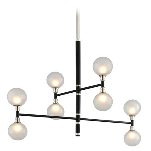 Troy Lighting Troy Lighting Andromeda Carbide Black and Polished Nickel Pendant Light with Globe Shade F4825