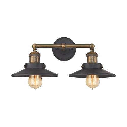 Elk Lighting Mid-Century Modern Bathroom Light Antique Brass, Graphite English Pub by Elk Lighting 67181/2