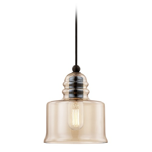 Livex Lighting Livex Lighting Art Glass Mini Pendant English Bronze Mini-Pendant Light with Drum Shade 40630-92