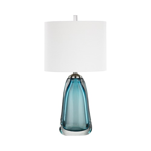 Dimond Lighting Dimond Ms. Poole Poole and Polished Chrome Table Lamp with Oval Shade D3161