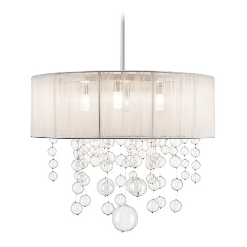 Elan Lighting Elan Lighting Imbuia Chrome Pendant Light with Drum Shade 83233