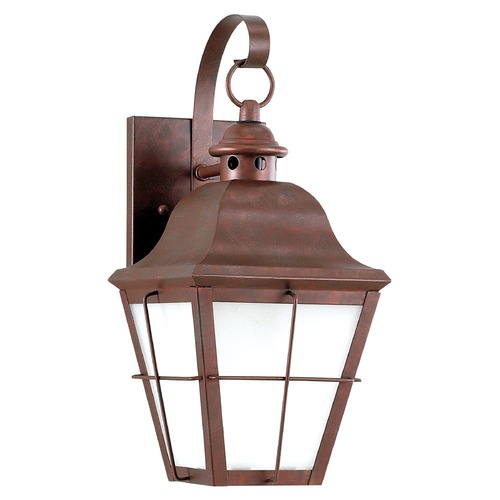 Sea Gull Lighting Sea Gull Lighting Chatham Weathered Copper LED Outdoor Wall Light 8462DEN3-44