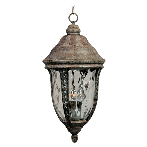 Maxim Lighting Outdoor Hanging Light with Clear Glass in Earth Tone Finish 3111WGET