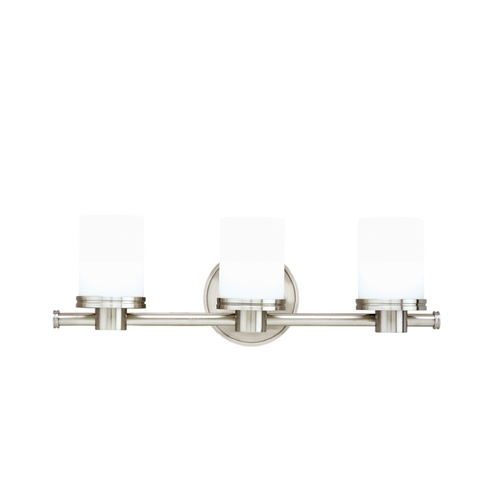 Hudson Valley Lighting Modern Bathroom Light with White Glass in Satin Nickel Finish 2053-SN