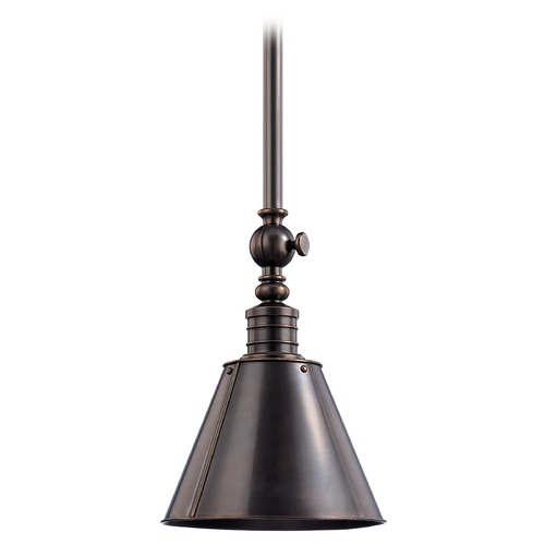 Hudson Valley Lighting Modern Pendant Light in Distressed Bronze Finish 9911-DB