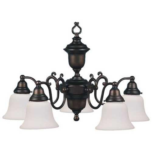 Design Classics Lighting Bronze Chandelier with Five Lights 30015ES-30