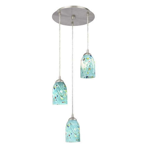 Design Classics Lighting Modern Multi-Light Pendant Light and 3-Lights 583-09 GL1021D