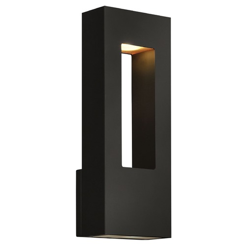 Hinkley Lighting Modern Outdoor Wall Light with Etched in Satin Black Finish 1648SK