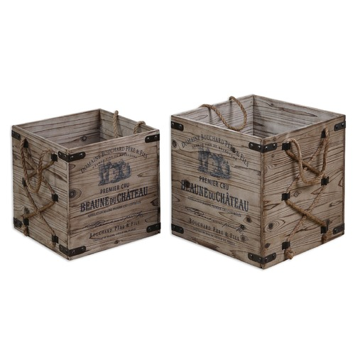 Uttermost Lighting Uttermost Bouchard Crates Set of 2 19782