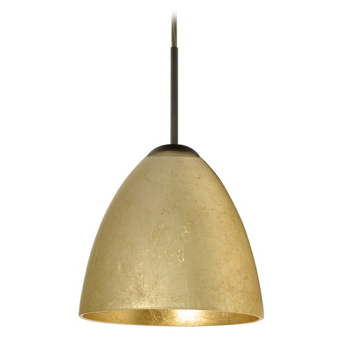 Besa Lighting Besa Lighting Vila Bronze LED Mini-Pendant Light 1JT-4470GF-LED-BR