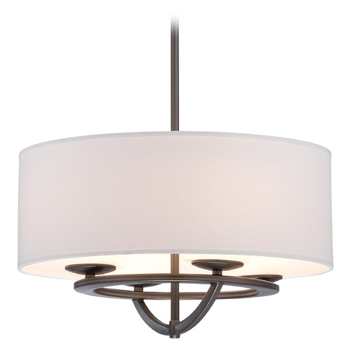 George Kovacs Lighting George Kovacs Circuit Smoked Iron Pendant Light with Cylindrical Shade P1813-172