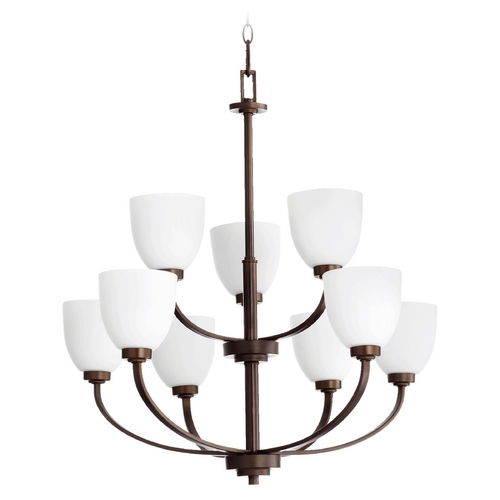 Quorum Lighting Quorum Lighting Reyes Oiled Bronze Chandelier 6060-9-86