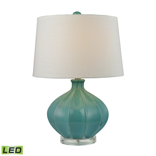 Dimond Lighting Dimond Lighting Medium Seafoam Glaze LED Table Lamp with Empire Shade D2624-LED