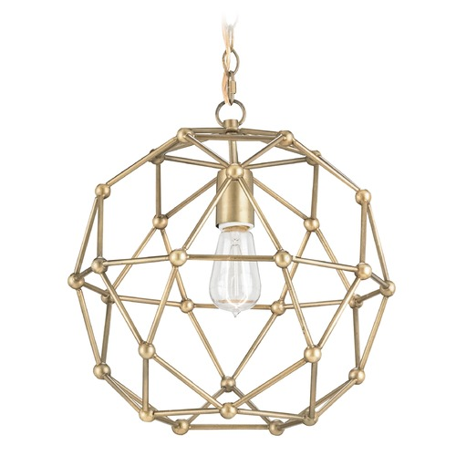 Currey and Company Lighting Currey and Company Lighting Percy Antique Brass Chandelier 9704