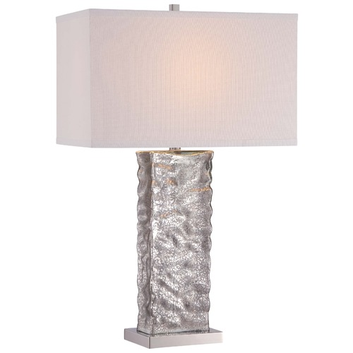 Minka Lavery Minka Polished Nickel Table Lamp with Rectangle Shade 12427-0