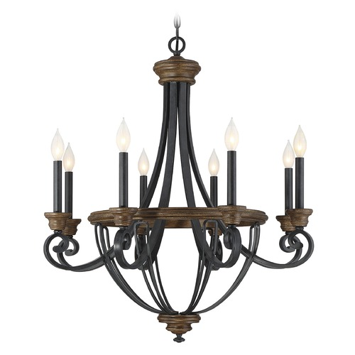Savoy House Savoy House Lighting Wickham Whiskey Wood Chandelier 1-2051-8-68