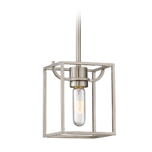 Designers Fountain Lighting Designers Fountain Uptown Satin Platinum Mini-Pendant Light 88430-SP