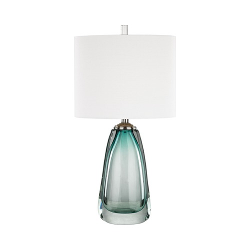 Dimond Lighting Dimond Ms. Aqua Aqua and Polished Chrome Table Lamp with Oval Shade D3162