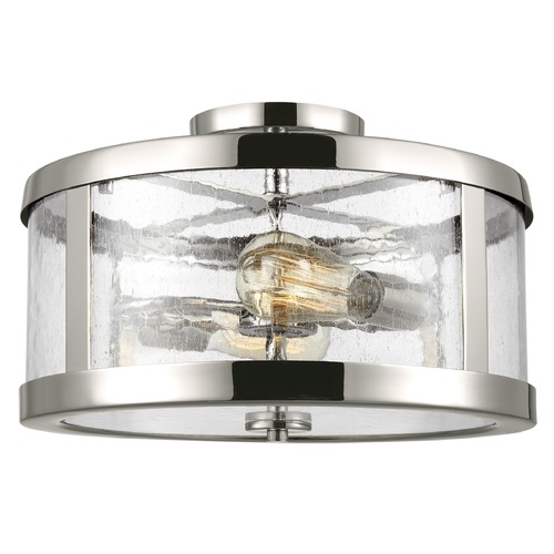 Feiss Lighting Feiss Lighting Harrow Polished Nickel Semi-Flushmount Light SF341PN