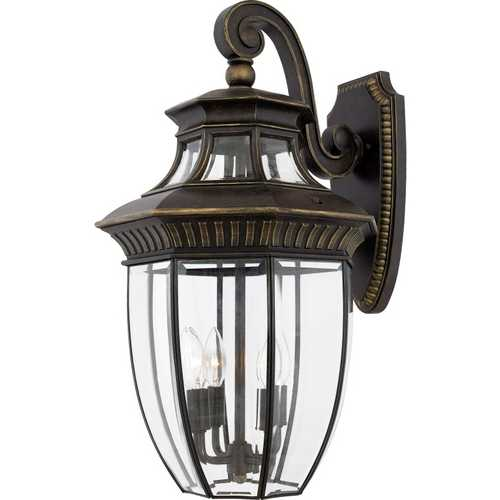 Quoizel Lighting Outdoor Wall Light with Clear Glass in Imperial Bronze Finish GT8982IB