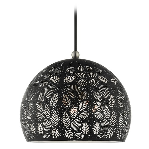 Livex Lighting Livex Lighting Pendant Light in Black with Brushed Nickel Accents 49544-04