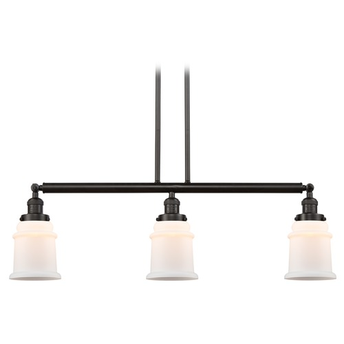 Innovations Lighting Innovations Lighting Canton Oil Rubbed Bronze Island Light with Bell Shade 213-OB-S-G181