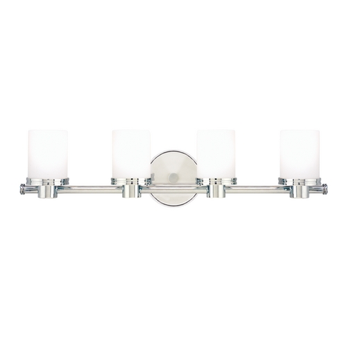 Hudson Valley Lighting Modern Bathroom Light with White Glass in Polished Chrome Finish 2054-PC