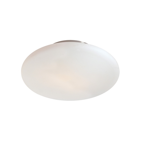 Sonneman Lighting Modern Flushmount Light with White Glass in Satin Nickel Finish 4151.13