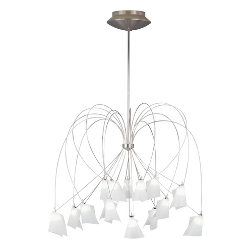 Tech Lighting Modern Chandelier in Satin Nickel Finish 700RHAP44S