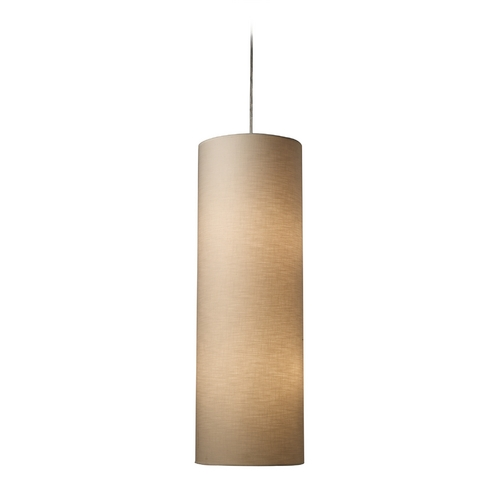 Elk Lighting Pendant Light with Beige / Cream Shades in Satin Nickel Finish 20160/4