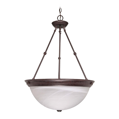 Nuvo Lighting Pendant Light with Alabaster Glass in Old Bronze Finish 60/212