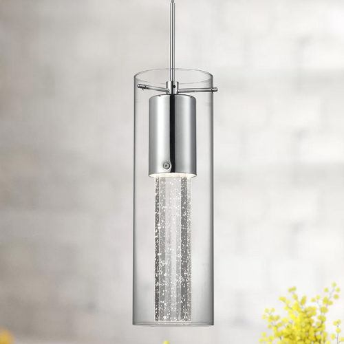 Kuzco Lighting Chrome Mini-Pendant Light in Chrome by Kuzco Lighting PD4401-CH