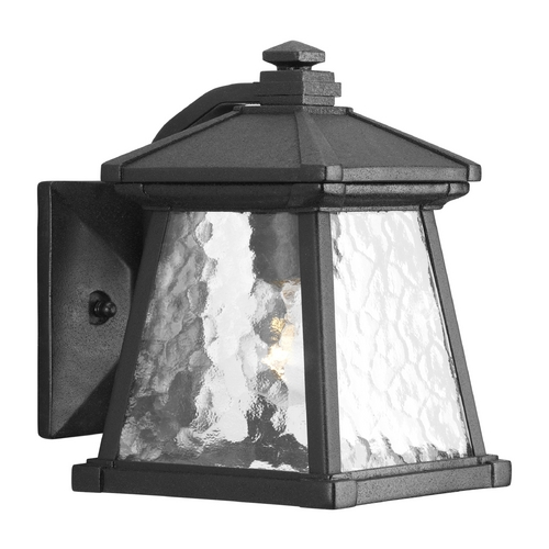 Progress Lighting Progress Outdoor Wall Light with Clear Glass in Black Finish P5906-31