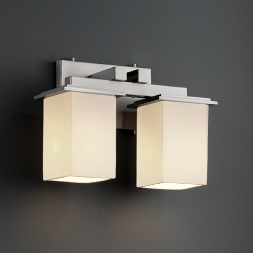Justice Design Group Justice Design Group Fusion Collection Bathroom Light FSN-8672-15-OPAL-NCKL