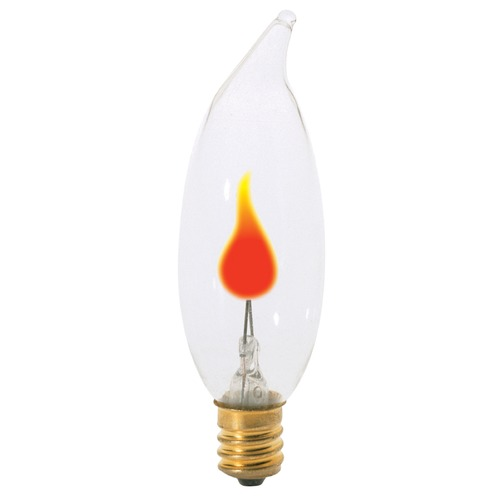 Satco Lighting Incandescent CA8 Light Bulb Candelabra Base 120V by Satco S3756