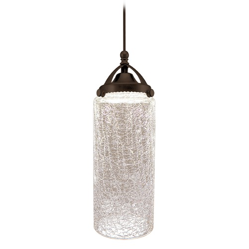 WAC Lighting Wac Lighting Early Electric Collection Dark Bronze LED Mini-Pendant with Cylindrica MP-LED499-CR/DB