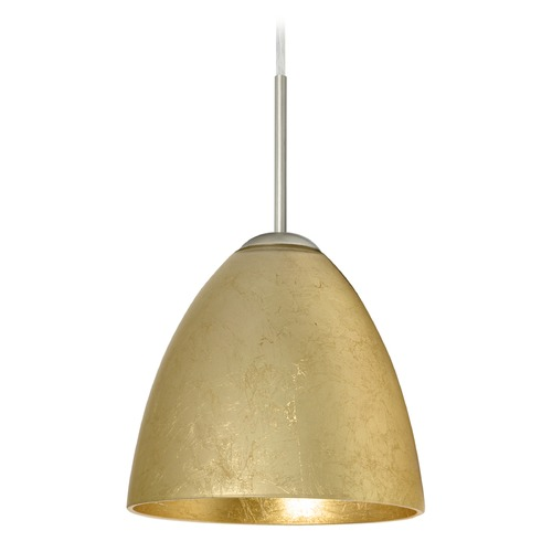 Besa Lighting Besa Lighting Vila Satin Nickel LED Mini-Pendant Light 1JT-4470GF-LED-SN