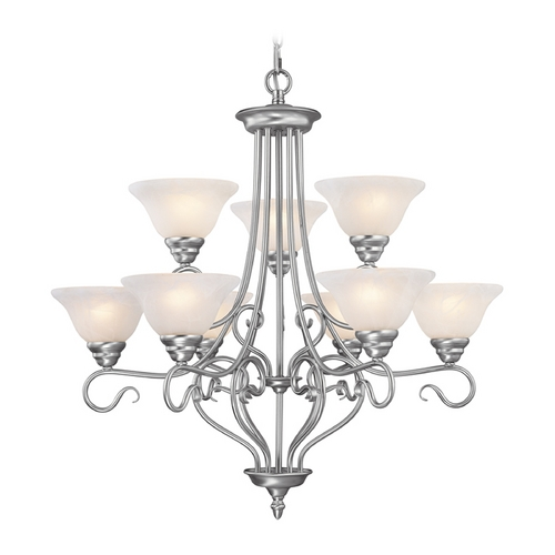 Livex Lighting Livex Lighting Coronado Brushed Nickel Chandelier 6119-91
