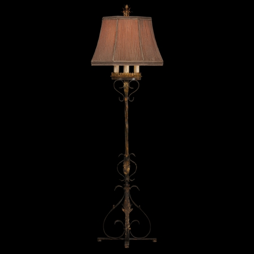 Fine Art Lamps Fine Art Lamps Castile Antiqued Iron with Gold Leaf Floor Lamp with Bell Shade 221120ST