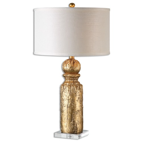 Uttermost Lighting Uttermost Lorenzello Gold Leaf Table Lamp 26653-1