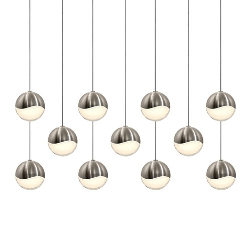 Sonneman Lighting Sonneman Grapes Satin Nickel 11 Light LED Multi-Light Pendant 2922.13-MED