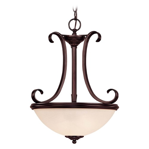 Savoy House Savoy House English Bronze Pendant Light with Bowl / Dome Shade 7-5785-2-13