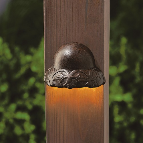 Kichler Lighting Kichler Lighting Textured Tannery Bronze LED Deck Light 15750TZT27R