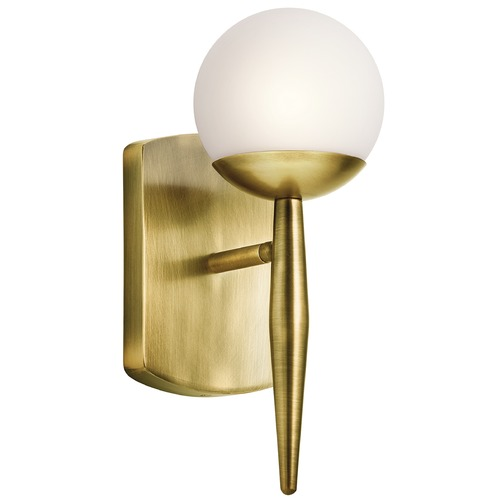 Kichler Lighting Mid-Century Modern Sconce Brass Jasper by Kichler Lighting 45580NBR