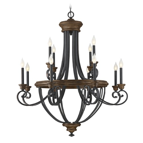 Savoy House Savoy House Lighting Wickham Whiskey Wood Chandelier 1-2052-12-68