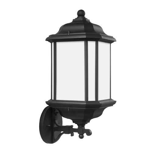 Sea Gull Lighting Sea Gull Kent Black Outdoor Wall Light 84532-12