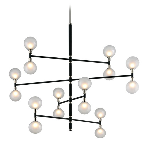 Troy Lighting Troy Lighting Andromeda Carbide Black and Polished Nickel Pendant Light with Globe Shade F4827