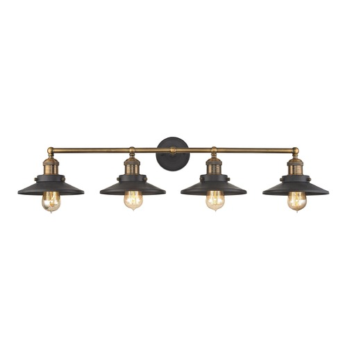 Elk Lighting Mid-Century Modern Bathroom Light Antique Brass, Graphite English Pub by Elk Lighting 67183/4